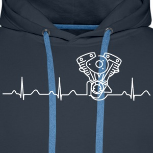 Late Shovel Heartbeat white Hoodies & Sweatshirts - Men's Premium Hoodie