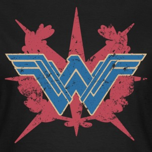 Bros Wonder Woman Distressed Logo - T-skjorte for kvinner