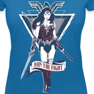 Bros Wonder Woman Join The Fight Quote - T-shirt med v-ringning dam