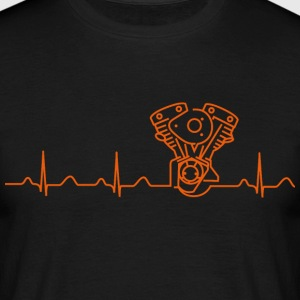 T-Shirt, Shovelhead Late Shovel Heartbeat-Design - Männer T-Shirt