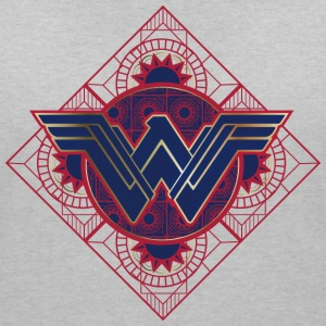 Warner Bros Wonder Woman Logo Mandala - T-shirt col V Femme
