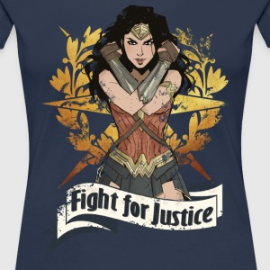Bros Wonder Woman Fight For Justice - Dame premium T-shirt