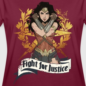 Bros Wonder Woman Fight For Justice - Oversize T-skjorte for kvinner