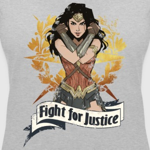 Warner Bros Wonder Woman Fight For Justice - T-shirt col V Femme