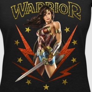 Warner Bros Wonder Woman Guerrière Warrior - T-shirt col V Femme