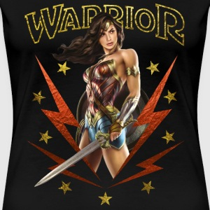 Warner Bros Wonder Woman Guerrière Warrior - T-shirt Premium Femme