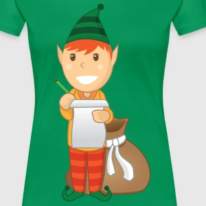 Santa Elf Helper - Women's Premium T-Shirt