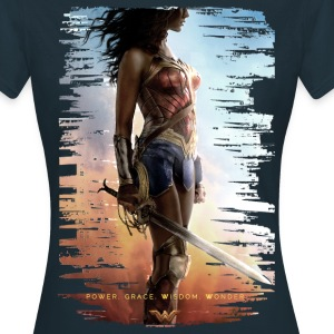 Bros Wonder Woman Power Grace Wisdom - T-skjorte for kvinner