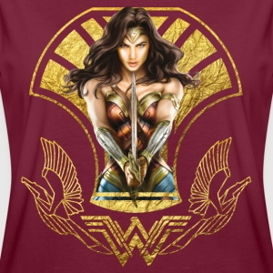 Bros Wonder Woman With Sword Gold Logo - Naisten oversized-t-paita