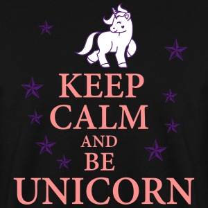 Keep calm be a unicorn Pullover & Hoodies - Männer Pullover