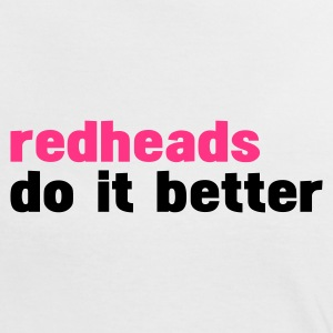 Blanc/noir redheads do it better T-shirts - T-shirt contraste Femme