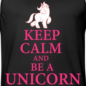 Keep calm be a unicorn Sportbekleidung - Männer Basketball-Trikot