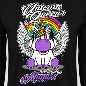August - Birthday - Unicorn - Queen - EN Pullover & Hoodies - Männer Pullover