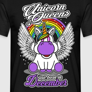 December - Birthday - Unicorn - Queen - EN Camisetas - Camiseta hombre