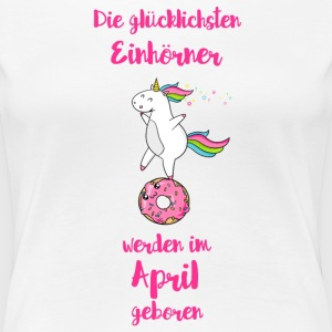 April Einhorn T-Shirts - Frauen Premium T-Shirt