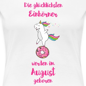 August Einhorn T-Shirts - Frauen Premium T-Shirt