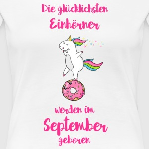 September Einhorn T-Shirts - Frauen Premium T-Shirt