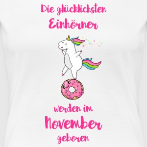 November Einhorn T-Shirts - Frauen Premium T-Shirt