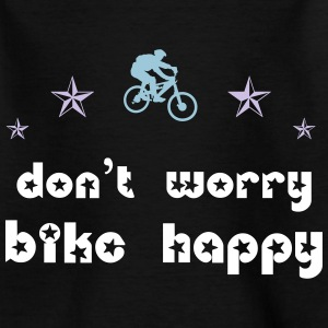 Don't worry bike happy T-Shirts - Teenager T-Shirt