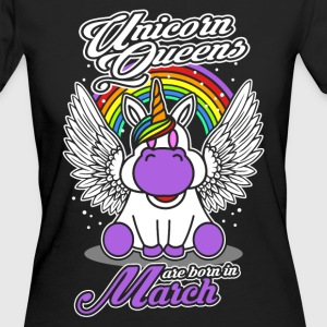 March - Birthday - Unicorn - Queen - EN T-Shirts - Women's Organic T-shirt
