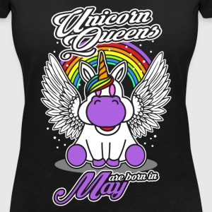 May - Birthday - Unicorn - Queen - EN Camisetas - Camiseta con escote en pico mujer