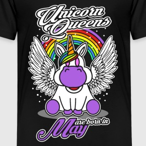 May - Birthday - Unicorn - Queen - EN Shirts - Teenage Premium T-Shirt