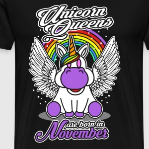 November - Birthday - Unicorn - Queen - EN Camisetas - Camiseta premium hombre