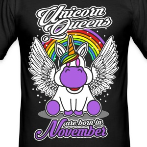 November - Birthday - Unicorn - Queen - EN Tee shirts - Tee shirt près du corps Homme