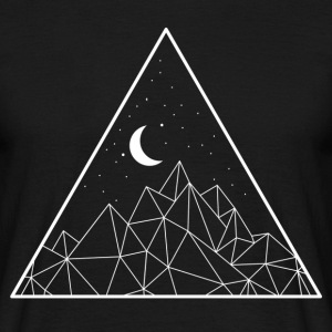Minimal Moon Mountain T-Shirts - Men's T-Shirt