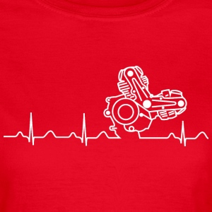 T-Shirt, Ducati Heartbeat Design - Frauen T-Shirt