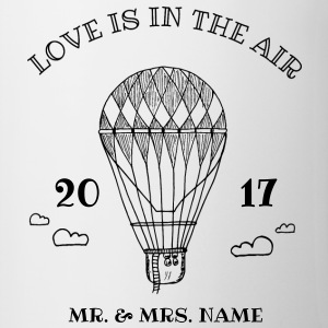 Love is in the air / Ballon / personalisiert Tassen & Zubehör - Tasse zweifarbig