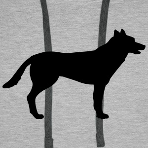 Dog, german shepherd - chien Sweat-shirts - Sweat-shirt à capuche Premium pour hommes