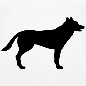 Dog, german shepherd Topit - Naisten premium hihaton toppi