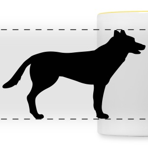 Dog, german shepherd Tazze & Accessori - Tazza con vista
