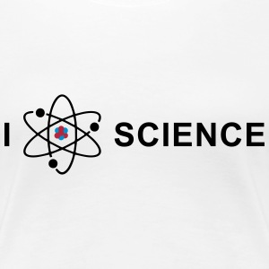 I love science T-shirts - Premium-T-shirt dam