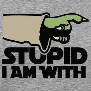 Stupid I am with FC T-shirts - Mannen Premium T-shirt
