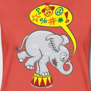 Circus Elephant Saying Bad Words T-Shirts - Women's Premium T-Shirt