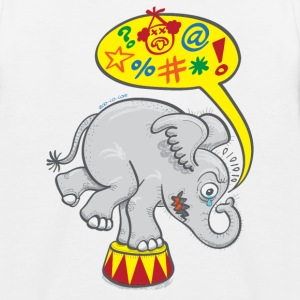Circus Elephant Saying Bad Words Shirts - Kids' Baseball T-Shirt