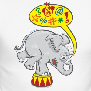 Circus Elephant Saying Bad Words Long sleeve shirts - Men's Long Sleeve Baseball T-Shirt