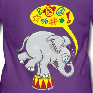 Circus Elephant Saying Bad Words Hoodies & Sweatshirts - Women's Premium Hooded Jacket