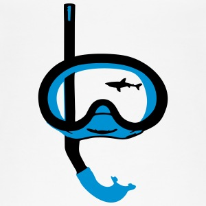 Snorkeling, diving, snorkeling mask and shark Toppar - Ekologisk tanktopp dam