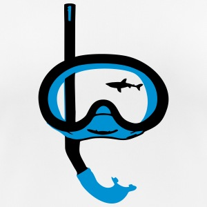 Snorkeling, diving, snorkeling mask and shark Camisetas - Camiseta mujer transpirable