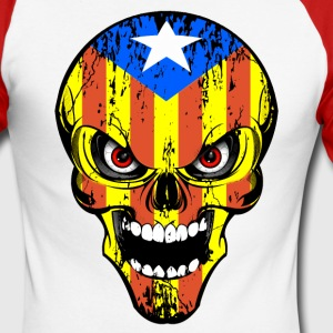Cataluña skull Manches longues - T-shirt baseball manches longues Homme