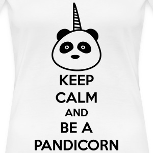 Keep calm and be a pandicorn - Women's Premium T-Shirt
