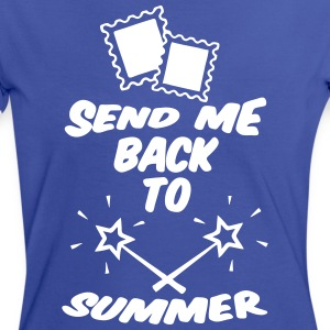 Back to Summer - Frauen Kontrast-T-Shirt