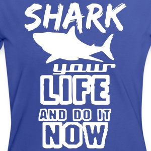 Shark your Life - Frauen Kontrast-T-Shirt