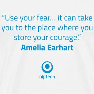 Niptech - Amelia Earhart quote T-Shirt - T-shirt Premium Homme