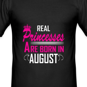 August - Birthday - Princess - 2 T-shirts - Slim Fit T-shirt herr