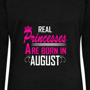 August - Birthday - Princess - 2 Hoodies & Sweatshirts - Women's Boat Neck Long Sleeve Top