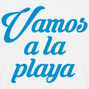 VAMOS A LA PLAYA - T-skjorte for menn